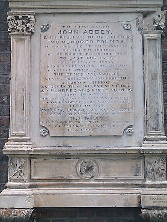 Addey and Stanhope School - John Addey commemoration plaque