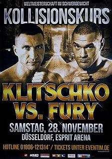 Wladimir Klitschko vs. Tyson Fury Boxing competition