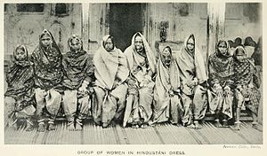 "Kurmi - Kurmi women in ""Hindustani dress"" (1916)"