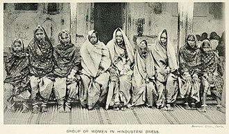 "Kurmi - Kurmi women in ""Hindustani dress"" (1916)"