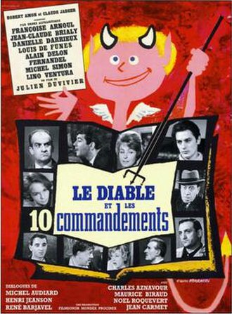 The Devil and the Ten Commandments - Original French film poster