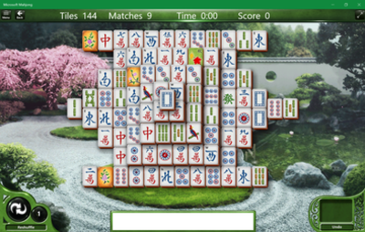 Picture of a game: Microsoft Mahjong