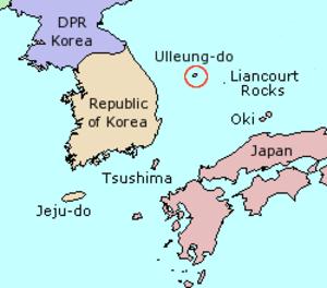 Ulleungdo - Image: Map Ulleung do