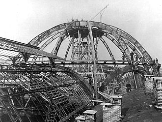 Galleria Vittorio Emanuele II - The building under construction