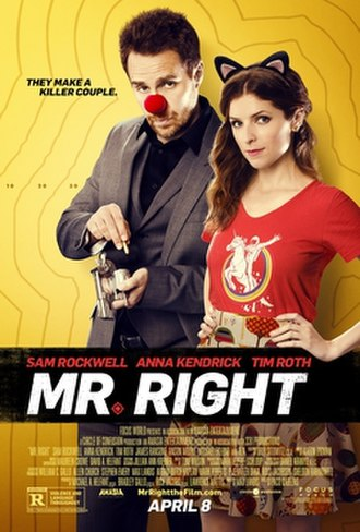 Mr. Right (2015 film) - Image: Mr Right poster