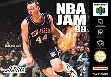 NBA Jam '99 box art.