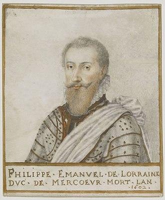 Philippe Emmanuel, Duke of Mercœur - Image: Philippemaneul