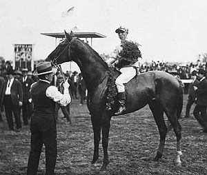 1906 Kentucky Derby - Roscoe Troxler and Sir Huon at the 1906 Kentucky Derby