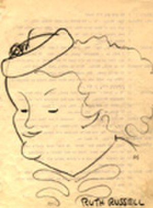 Just Plain Bill - Drawing of Ruth Russell by actor-singer Norman Sweetser (1894-1980)