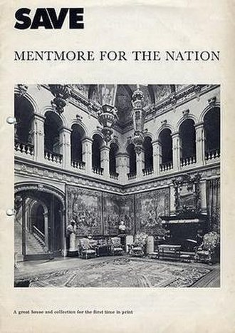 "Mentmore Towers - Cover of ""SAVE Mentmore for the Nation"". This booklet was published by SAVE Britain's Heritage in February 1977"