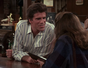 "Sam Malone - Sam flirting with a woman in ""Behind Every Great Man"" (episode 63, 1985)"