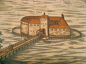 Schloss Ort - Schloss Ort as drawn in 1594