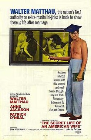 The Secret Life of an American Wife - Theatrical release poster