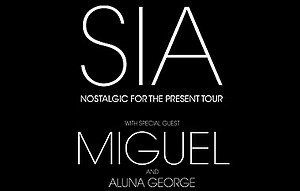 Nostalgic for the Present Tour - Image: Sia Nostalgic for the Present tour