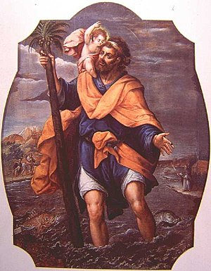 Simon Pereyns - Saint Christopher at Cathedral of Mexico, 1588.