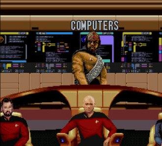Star Trek: The Next Generation (1994 video game) - Main bridge