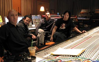 Tapeworm (band) - Tapeworm as of 2002 (left to right): Maynard James Keenan, Danny Lohner, Atticus Ross, Trent Reznor