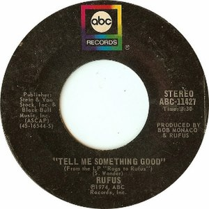 Tell Me Something Good - Image: Tell Me Something Good by Rufus and Chaka Khan US vinyl