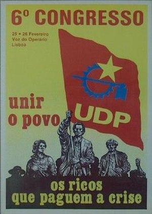 Popular Democratic Union (Portugal) - UDP 6h Congress poster