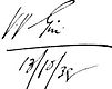 Varahagiri Venkatagiri Signature in English
