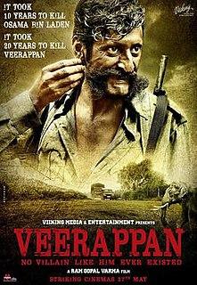 <i>Veerappan</i> (2016 film) 2016 Indian Hindi-language film by Ram Gopal Varma