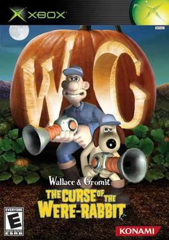 Wallace & Gromit: The Curse of the Were-Rabbit (video game) - North American cover art for the Xbox