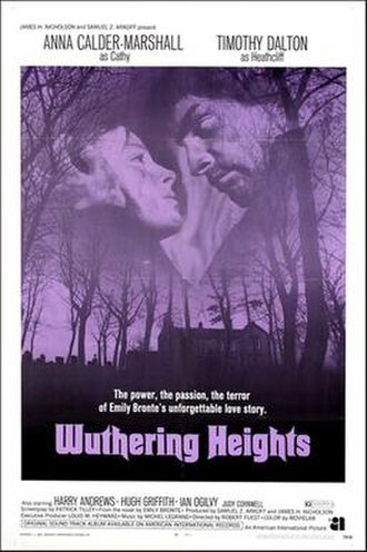 Wuthering Heights (1970 film) - Theatrical release poster