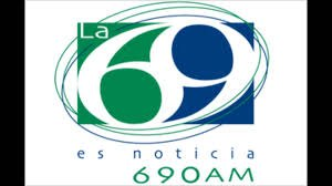 XEN-AM - Logo as La 69, used from 2001 to 2017