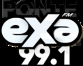XHVI-FM - Image: XHVI XEVI Exa FM99.1 1400 logo