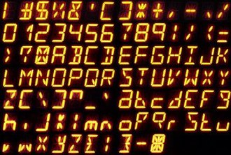 Fourteen-segment display - Most of the ASCII characters (the double quote is missing) on a 14-segment display