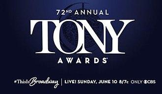 72nd Tony Awards - Image: 72nd Tony Awards poster