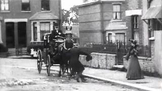 <i>An Extraordinary Cab Accident</i> 1903 film by Walter R. Booth