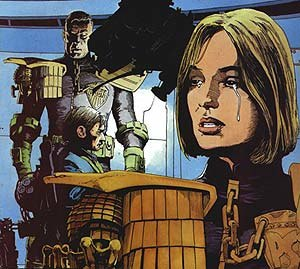 Arthur Ranson - Sample of Arthur Ranson's art on Judge Anderson story The Jesus Syndrome.