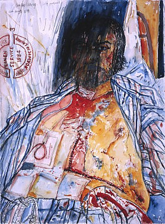 """John Bellany - """"Self-Portrait"""", from The Addenbrookes Hospital Series (1988)"""
