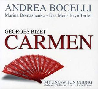 Carmen: Duets & Arias - Cover of the complete opera recording of Carmen, first released in 2008, in Italy and in 2010 Internationally