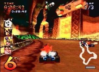 Crash Team Racing - An example of a race in Crash Team Racing