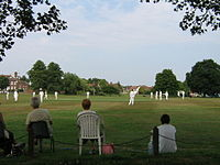A cricket match on the village green