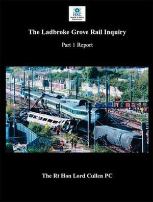Ladbroke Grove rail crash - Cullen report cover