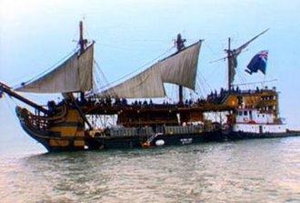 Pirates of the Caribbean: The Curse of the Black Pearl - The barge used for Dauntless