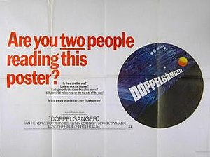 Doppelgänger (1969 film) - UK film poster, displaying original Doppelgänger title