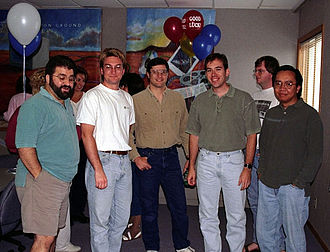 Avid Elastic Reality - Several members of the Elastic Reality team including three original members, one almost original member, and one member who came later.
