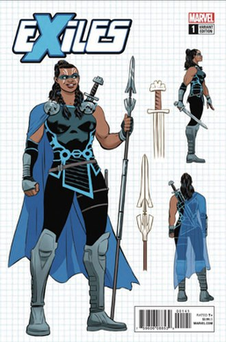 Valkyrie (Marvel Comics) - Image: Exiles 3 1 (Variant)