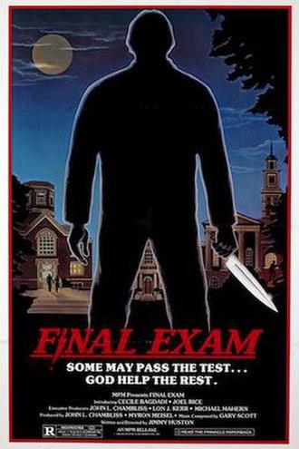 Final Exam (film) - Promotional film poster