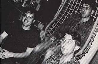 Fire Dept - The Fire Dept at Toe-Rag Studios, Shoreditch, c.1993. Left to right: Neil Palmer, Neale Richardson, Robin Taylor