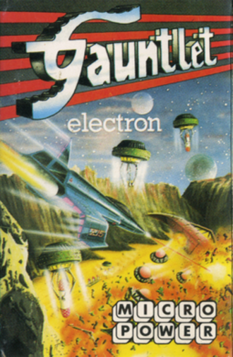 Gauntlet (Micro Power video game) - Acorn Electron cassette cover