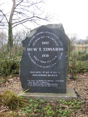 Huw T. Edwards - Monument to Huw T Edwards at Ro-wen
