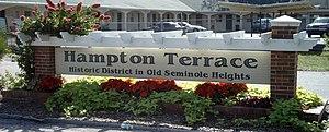 Seminole Heights - Hampton Terrace Historic District in Seminole Heights