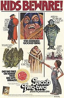 <i>Jacob Two-Two Meets the Hooded Fang</i> (1978 film) 1979 film by Theodore J. Flicker
