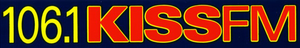 KHKS - The first 106.1 Kiss FM logo used in the 1990s.