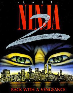 Last Ninja 2 - Commodore 64 cover art by Joe Roth